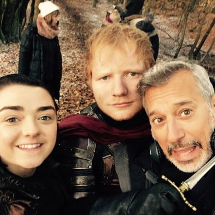 Behind the scenes&Bloopers - Page 2 Ed-Sheeran-Game-Thrones-Instagram-Pictures