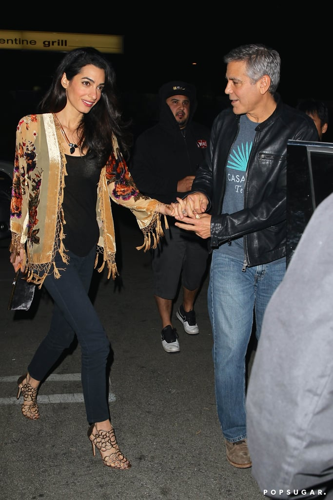 George Clooney and Amal Alamuddin on a Date | Pictures ...