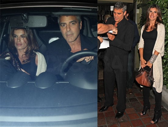Pictures of George Clooney and Elisabetta Canalis Out in LA For Dinner