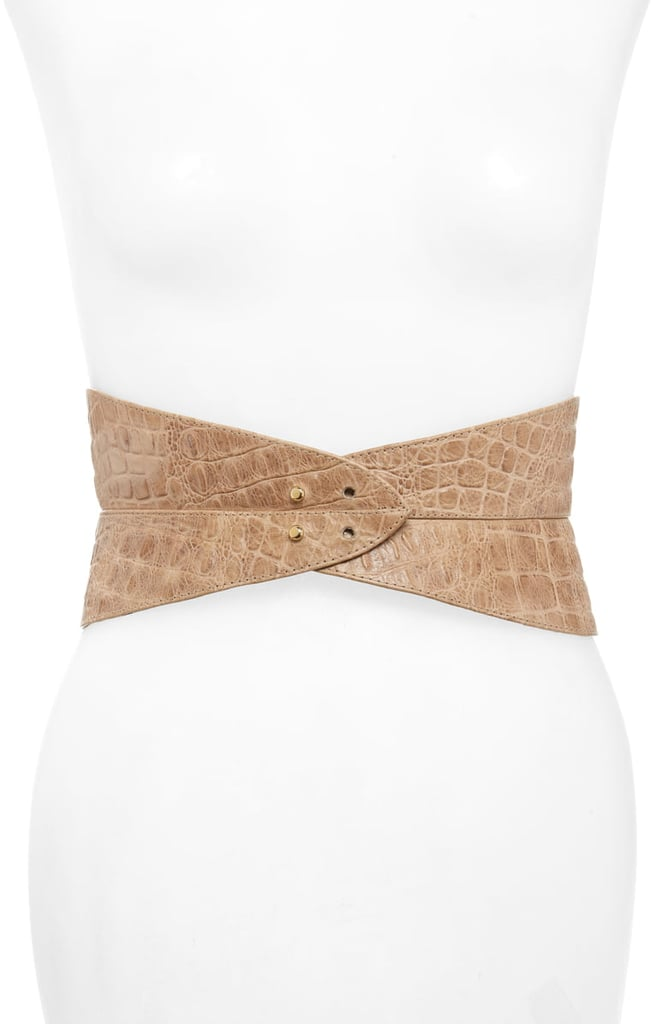 Raina Leather Corset Belt | How to Wear a Belt | Outfit