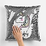 Unicorn Mermaid Sequin Pillow