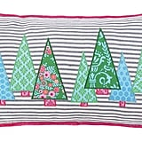 Holiday Ticking Forest Pillow ($20, originally 70)