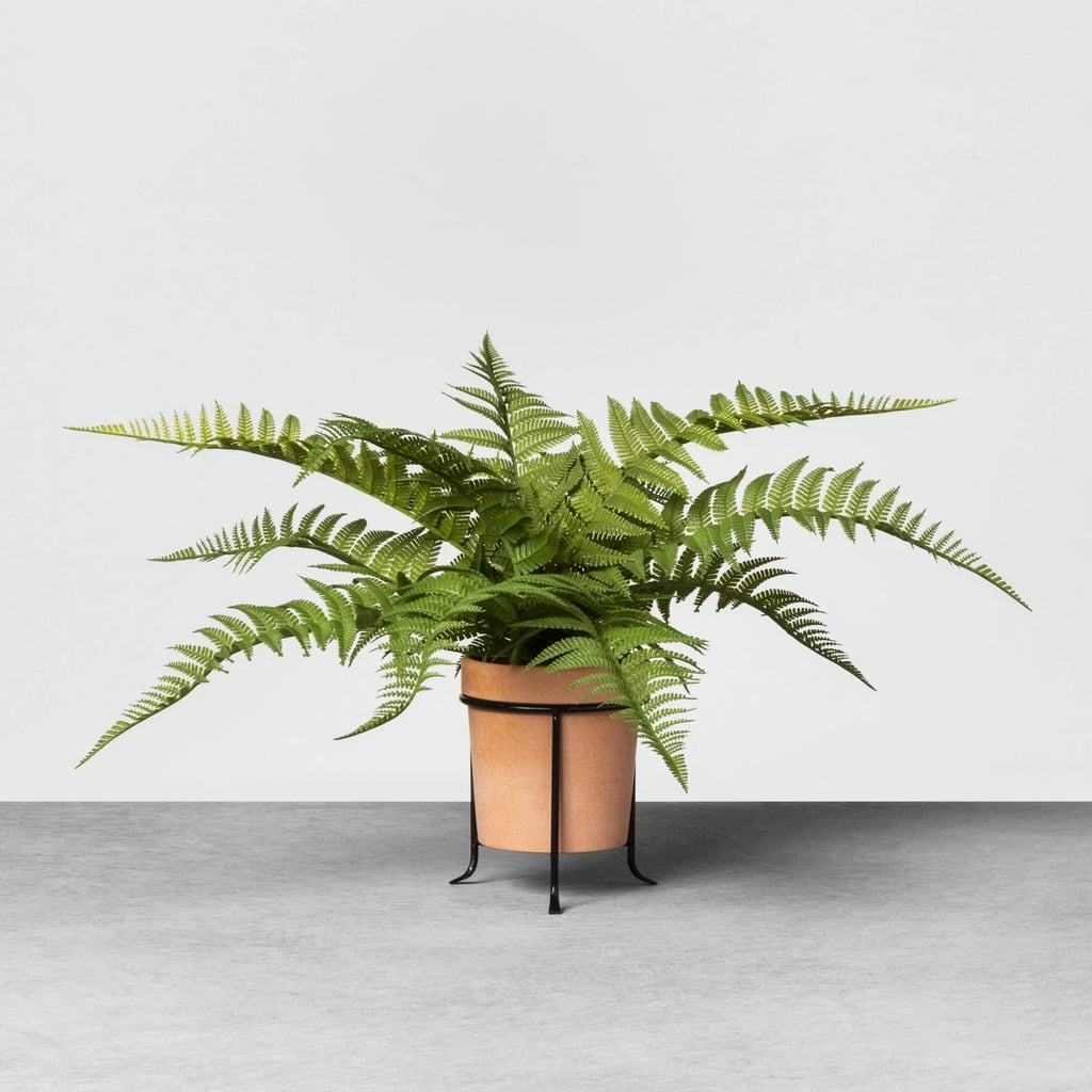 Faux Fern Potted Plant With Stand