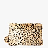 Azalea Leopard Furry Clutch