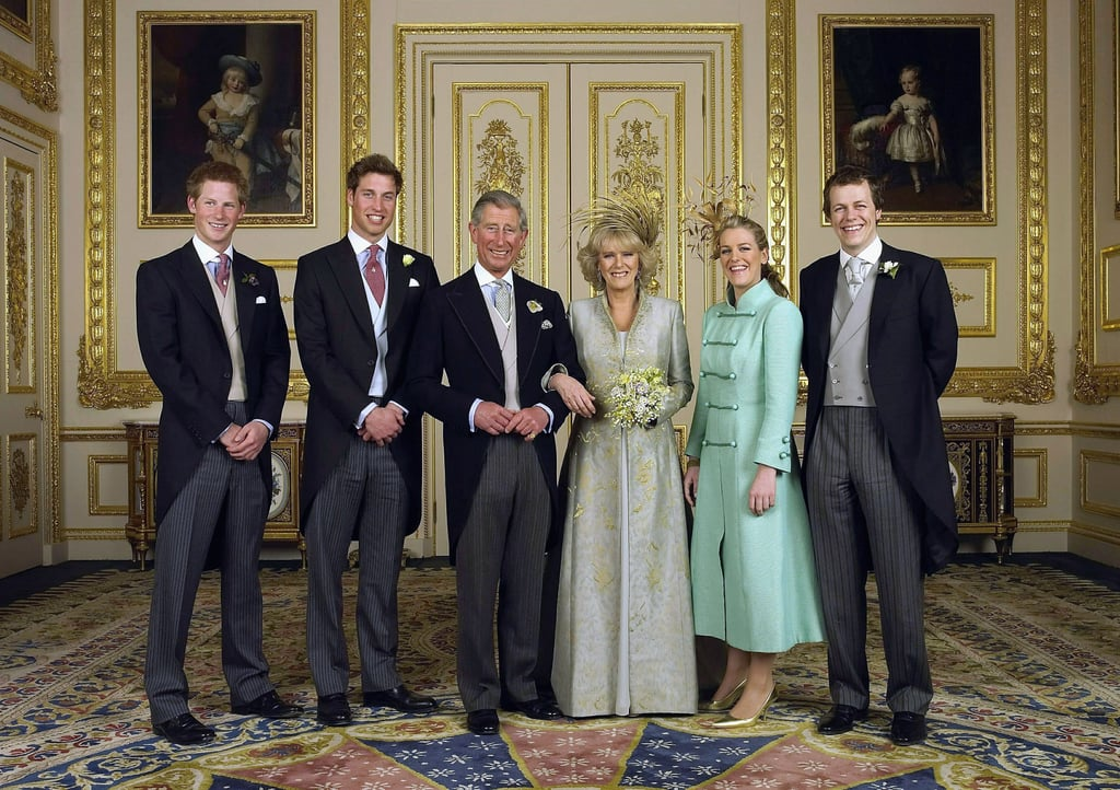 The couple was joined on their big day by their children from previous marriages; Princes William and Harry from Charles's relationship with Princess Diana, and Laura and Tom Parker Bowles, Camilla's daughter and son from her marriage to Andrew Parker Bowles.      Related:                                                                                                           What Is the Relationship Between William, Harry, and Camilla Really Like?