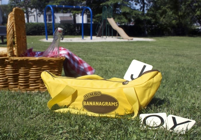 Jumbo Bananagrams Word Board Game