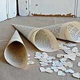 Book Page Wedding Paper Cones