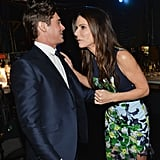 Sandra made Zac Efron laugh.