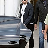 Robert Pattinson got into a car in Sydney.