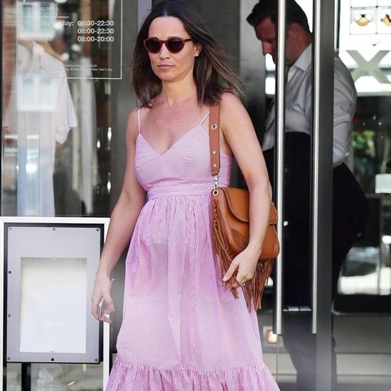Pippa Middleton Pink Striped J.Crew Dress June 2018