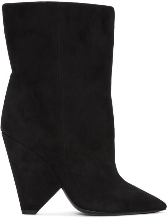 Rosie's Saint Laurent Black Suede Niki Boots