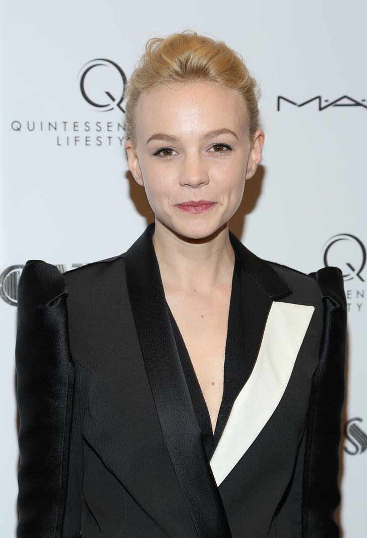 carey mulligan met gala preparty hair and makeup 2013
