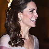 Kate Middleton's Curly Half-Up Ponytail, 2019
