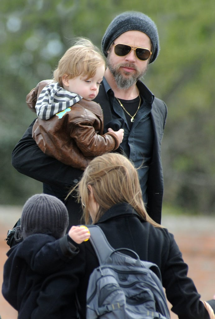 Photos of the Jolie-Pitts Easter