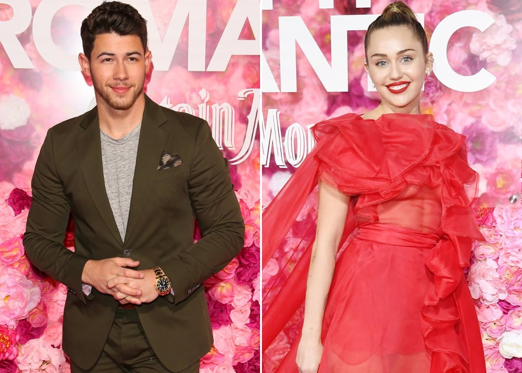 Miley Cyrus and Nick Jonas at Isn't It Romantic Premiere