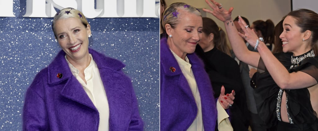Emma Thompson Glitter Star Hairstyle Last Christmas Premiere