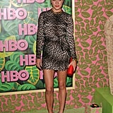 Legs for days and hot leopard print at an HBO party in August.