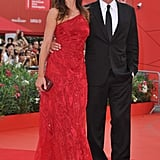 Cindy Crawford and Rande Gerber on the red carpet at The Ides of March premiere in Venice.