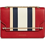 Strathberry East/West Stripe Leather Crossbody Bag