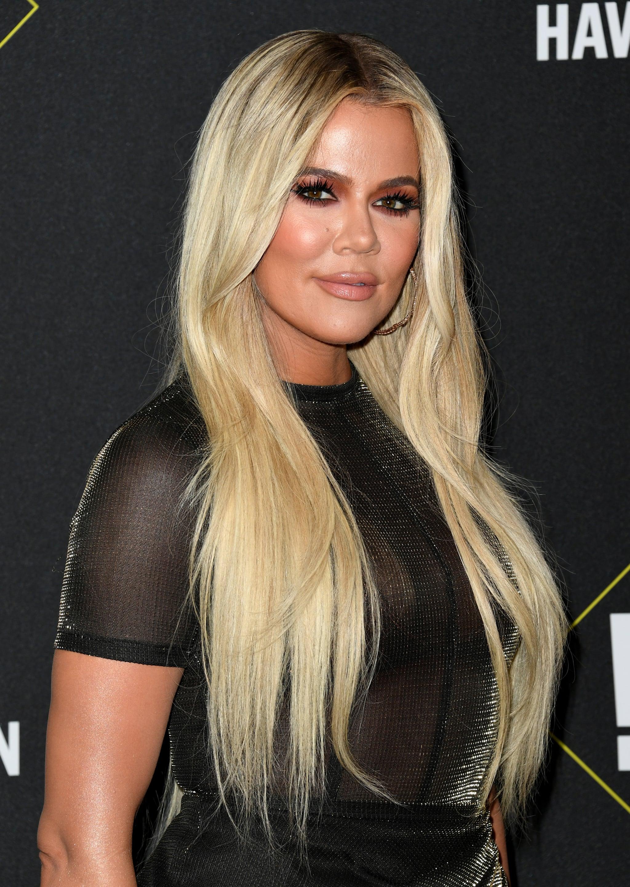 SANTA MONICA, CALIFORNIA - NOVEMBER 10: Khloé Kardashian attends the 2019 E! People's Choice Awards at Barker Hangar on November 10, 2019 in Santa Monica, California. (Photo by Jon Kopaloff/FilmMagic)