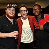 Luke Combs, Bobby Bones, and Leon Bridges