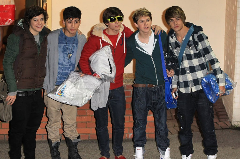 One Direction at Fountain Studios in London in 2010
