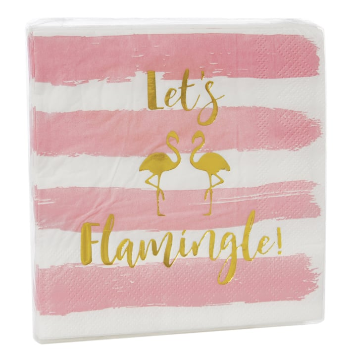 Let's Flamingle Paper Cocktail Napkins ($7)