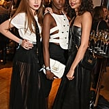 Xenia Tchoumi, Leomie Anderson, and Malaika Firth
