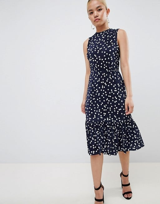 30102ac50f ASOS Petite Midi Dress With Tie Back