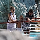 Kate Hudson, Ryder Robinson, and Matt Bellamy in the South of France.
