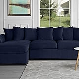 Modern Large Tufted Velvet Sectional Sofa