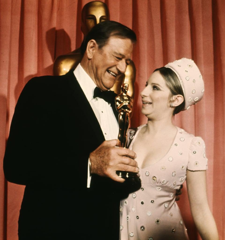 John Wayne and Barbra Streisand, 1969