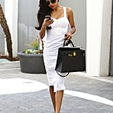 Naya Rivera was a vision in white during her Wednesday errands in LA.