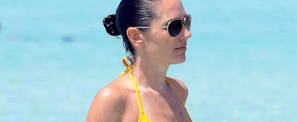 Jennifer Connelly and Paul Bettany at Beach in Spain 2017