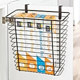 mDesign Hanging Over Cabinet Door Kitchen Storage Basket