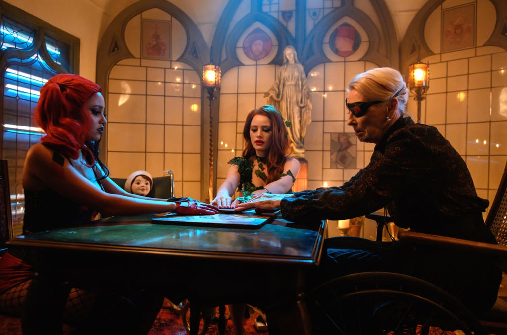 "Riverdale's Halloween episode is sure to be spooktacular! The CW unveiled photos for the upcoming episode, which premieres on Oct. 30, and it includes some of our favorite characters in costume. While Archie (KJ Apa) and Munroe (Eli Goree) don some very tight tights as superheroes, it's Cheryl (Madelaine Petsch) and Toni (Vanessa Morgan)'s couple costume that really takes the cake (or should we say bucket of candy?).  The power couple are dressing up as the equally iconic comic-book duo Poison Ivy and Harley Quinn. Morgan even shared a full look at her sexy getup on Instagram, writing, ""I'm Harley Quinn be my Joker."" We can't wait to see what couple costume Jughead and Betty come up with! Look at the rest of the photos ahead, then see how you can dress up like the Riverdale crew for Halloween.       Related:                                                                                                           Netflix Clapped Back After a Fan Put Down the Riverdale Stars For ""Sexualizing Teen Girls on TV"""