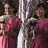 How nice of them to let Rachel be a bridesmaid, considering all the nasty things Santana has said to her over the years.