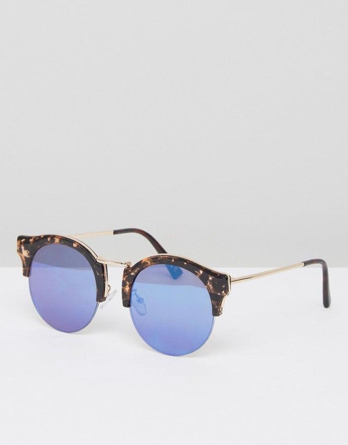6d66aa1598 Asos Half Round Sunglasses in Marble Tort
