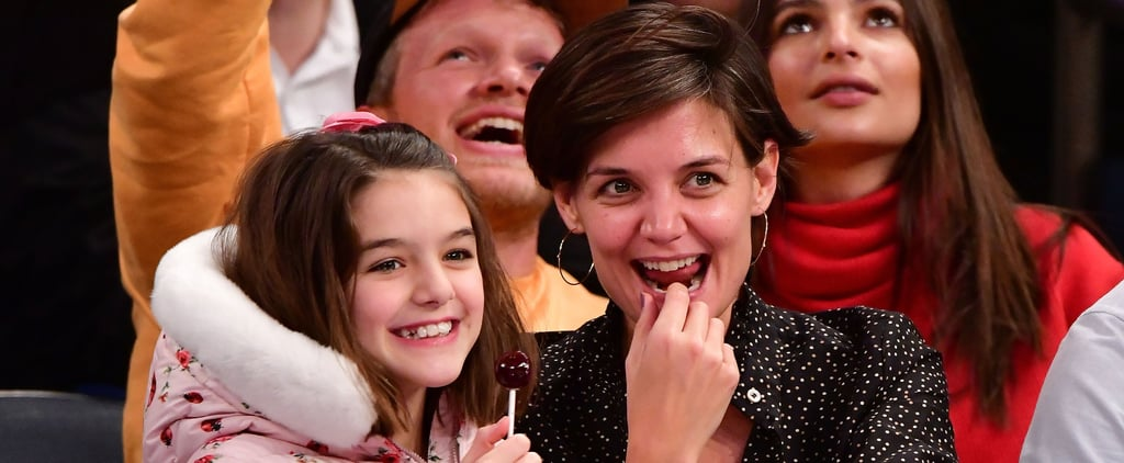 Katie Holmes and Suri Cruise Turn the Knicks Game Into Mommy-Daughter Time