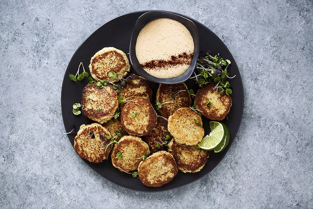 Spicy Cauliflower Fritters