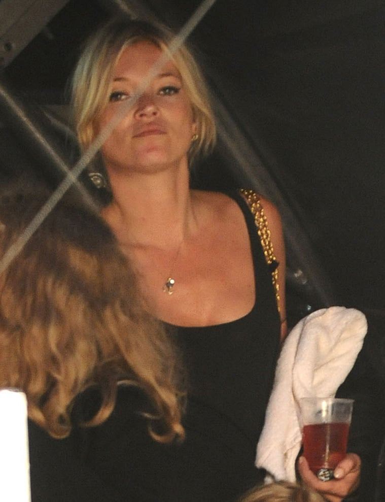 Kate Moss at Lily Allen Show