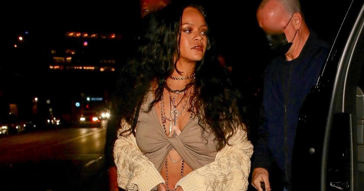 Rihanna Welcomes Fall in the Perfect Chunky Cardigan — Of Course, There's a Sexy Twist.jpg