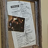 Some of the cast members have actually stopped by the grill for some grub. Along the walls of the hallways, there are several signed menus.
