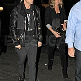 Jennifer Aniston and Justin Theroux headed into a party together in NYC.