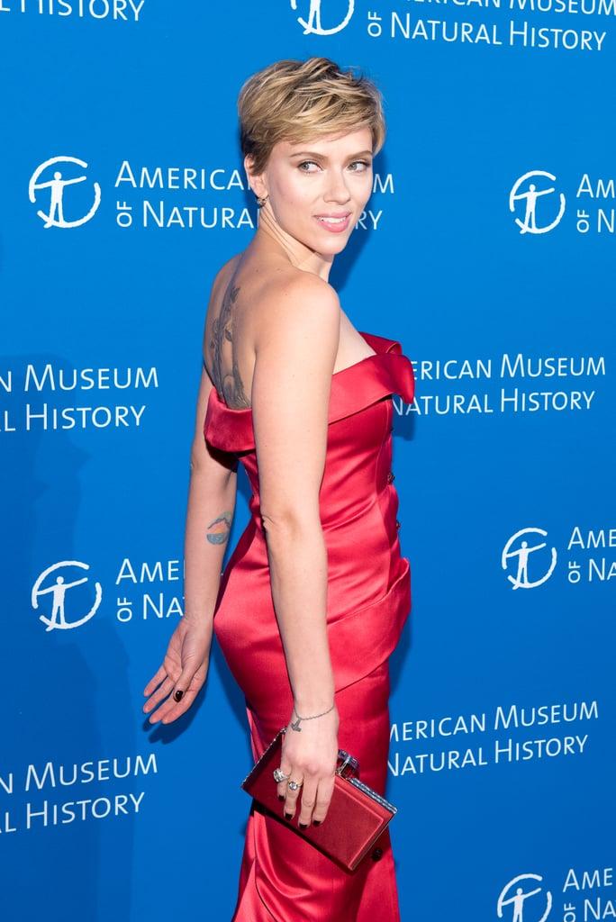 Scarlett Johansson's Back Tattoo