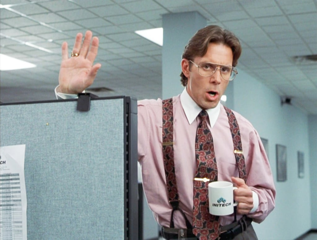 Image result for office space movie coffee