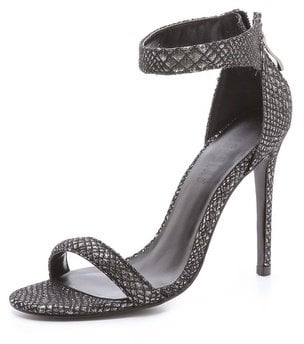A gorgeous textured finish makes these Nicholas Jazz ankle-strap sandals ($269) not only chic, but practically seasonless.