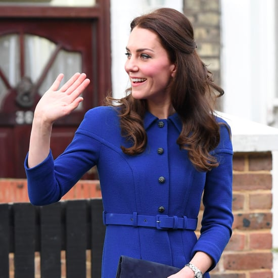 Kate Middleton Wearing Eponine Belted Blue Coat
