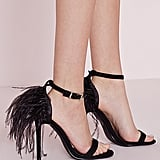 Missguided Feather Back Heeled Sandals