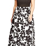 City Chic 'Painted Poppy' Plus Size Strapless Maxi Dress